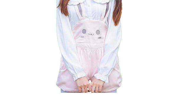 JiangYY Mujer Japonés Dulce Lolita Kawaii Rosado Conejo Pantalones ...