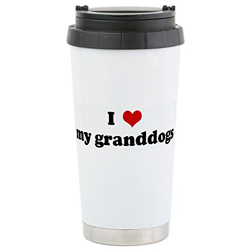 CafePress - Stainless Steel Travel Mug - Stainless Steel Travel Mug, Insulated 16 oz. Coffee - Personalized Double Seal Hearts
