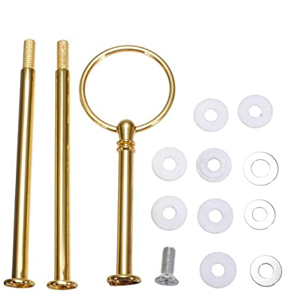 3 Tier 13 Cake Stand Fruit Heavy Plate Handle fittings Round Hardware RodGolden by  sc 1 st  Amazon.com & Amazon.com | 3 Tier 13 Cake Stand Fruit Heavy Plate Handle fittings ...
