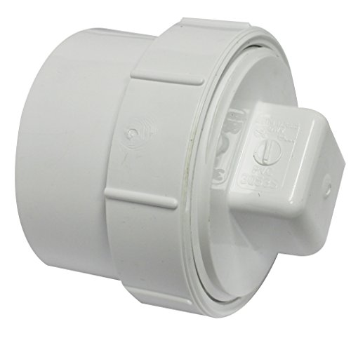 Canplas 193703AS PVC Female Cleanout Adapter with Plug, 3-Inch, White