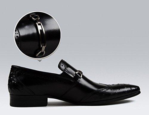 Zapatos EU39 Cuero Clásicos de Zapatos Hombres Brown Red Formal Zapatos UK6 para de de para Tamaño Puntiagudos Ropa Color Hombre Boda Piel Negro Negocios xwY1Yn0qOd