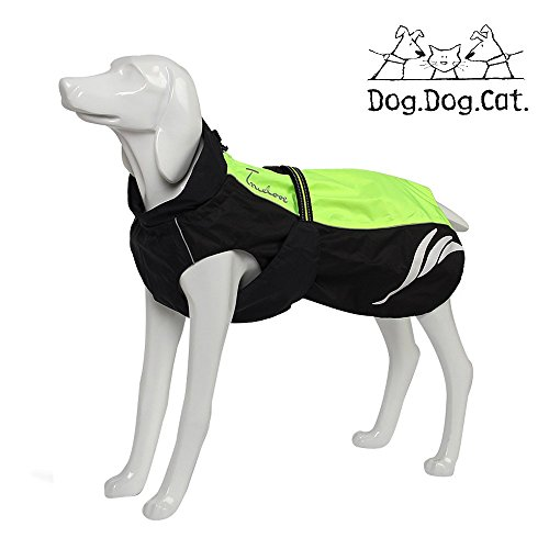 Cheap TRUE LOVE Mt. Tallac Winter Dog Coat – Technical Jacket is Waterproof, Windproof, Reflective, Insulated and Easily Adjustable to Small or deep Chested Dogs. (12″ – 30cm, Neon Green)