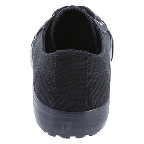 safeTstep Mens Slip Resistant Kick Black Canvas EFyCHyxNx