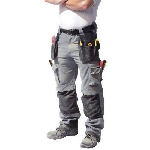 Caterpillar C172 Cargo Arbeitshose für Männer, standard Beinlänge Grau/Schwarz