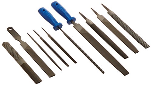 Neiko 00109A Heavy Duty File and Rasp Set, 12 Piece | PVC Handle (File And Rasp Set)