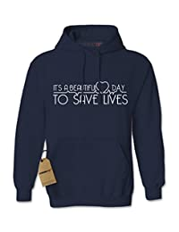 Expression Tees It's A Beautiful Day To Save Lives Unisex Adult Hoodie