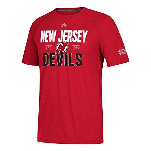 NHL New Jersey Devils Mens Centennial Convergence Ultimate S/Teecentennial Convergence Ultimate S/Tee, Red, Medium