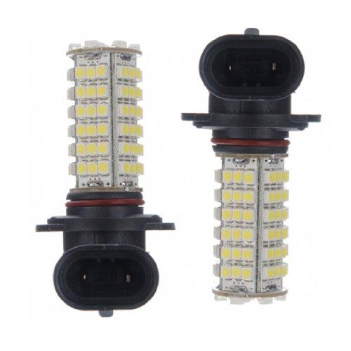 SODIAL(R) 2 X Car HB3 9005 3528 102 SMD LED HID White Headlight Fog Bulb Light Lamp 12V DC