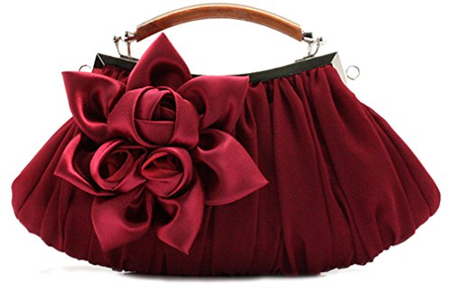 The Silk Flower with Pearl Women's Bridal Evening Bags - 3