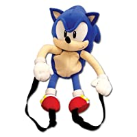 GE Animation Sonic Classic Sonic - Mochila de felpa