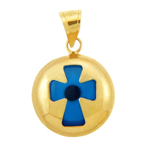 Petits Merveilles D'amour - Evil Eye Croix en or 14 ct 585/1000 Jaune contrepartie