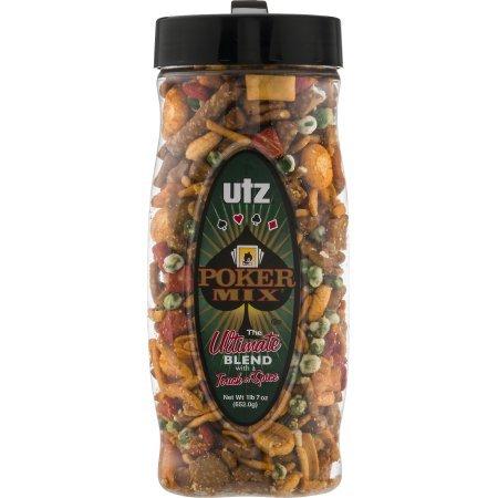 Utz Poker Mix, 23 oz Barrel, 5 Pack