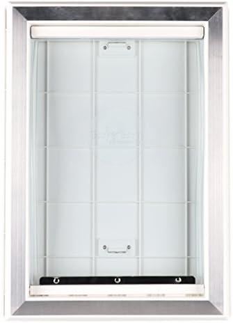 barksbar Original plástico perro puerta con refuerzo de aluminio – color blanco, suave solapa, cierre deslizante Panel y telescópica Marco: Amazon.es: Productos para mascotas