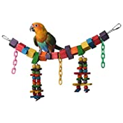Super Bird Creations 7 by 18-Inch Rainbow Bridge Jr. Bird Toy Medium