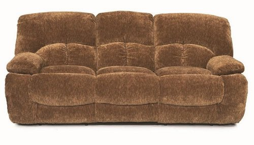 Fawn Power Reclining Sofa in Chocolate Fabric by Coaster