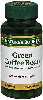 Nature's Bounty Green Coffee Bean with Raspberry Ketones & Green Tea Capsules, 60 ea ( Pack of 3)