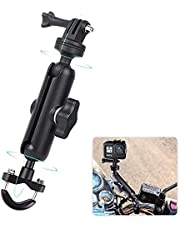 360°Motorcycle Bike Camera Holder Handlebar Mount Bracket 1/4 Metal Stand for GoPro Hero9/8/7/6/5/4/3+ Action Cameras Accessory(Cool Ballhead Arm Super