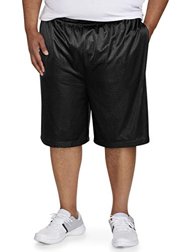 - Amazon Essentials Men's Big & Tall Mesh Basketball Short fit by DXL, Black, 4X