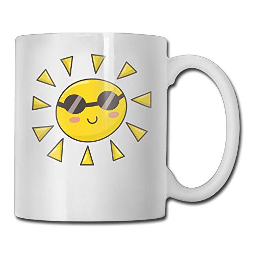 Kkidj Ooii Coffee Mugs Best Birthday Cute Sun Glasses Ceramic Tea ()