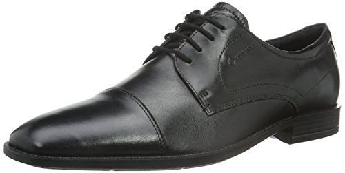 ECCO Men's Edinburgh Cap Toe Tie Oxford,Black,45 EU/11-11.5 M (Ecco Cap Toe Cap)