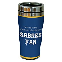 Tree-Free Greetings sg24172 Sabres Hockey Fan Sip 'N Go Stainless Steel Lined Travel Tumbler, 16-Ounce