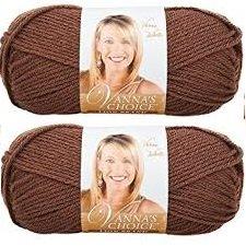 (Bulk Buy: Vanna's Choice Lion Brand Yarn (2-pack) (Chocolate) )