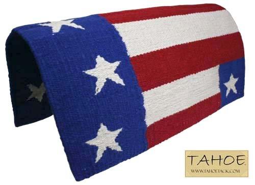 Derby Originals Patriotic Flag Acrylic Saddle Blanket, - Saddle Pad Blanket Horse