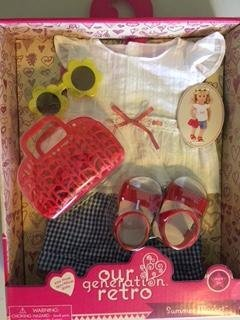 Retro Cloth - NEW! Our Generation Retro Summer Market Play set for 18