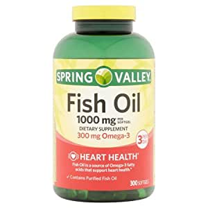 Spring valley fish oil omega 3 1000 mg for Spring valley fish oil review
