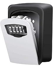 Schlüsseltresor mit 4-stelligem Zahlencode, Kombinationsschlüssel Safe Speicher Verschluss Kasten für Haus, Garagen, Schule Ersatz Haus Schlüssel (Wandmontage)