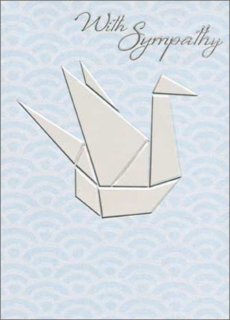 Amazon Origami Swan Apress Sympathy Card Health Personal Care