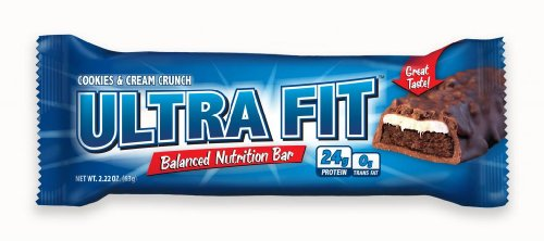 ULTRA FIT Cookies & Cream Crunch 24g Protein Bar - 12 Count
