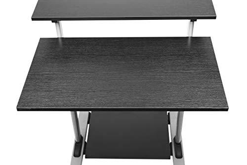 Mobile Standing Desk - TechOrbits Rolling Workstation Cart - Stand Up Media Podium Mobile Desk - Height Adjustable Presentation Computer Cart by TechOrbits (Image #4)