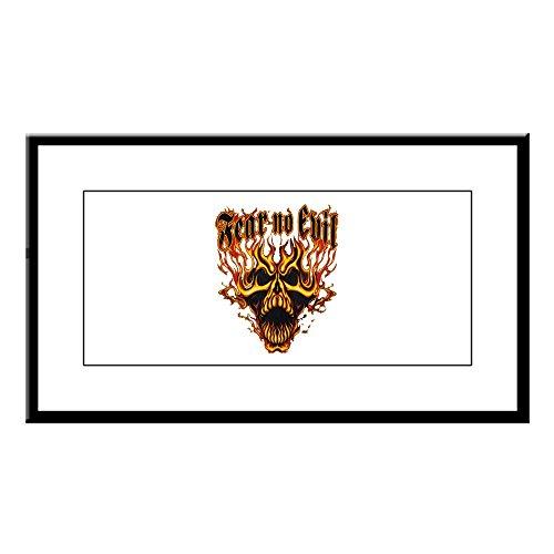 Small Framed Print Fear No Evil Flaming Skull