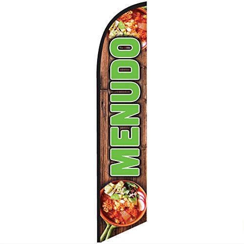 (Menudo Feather Banner Swooper Flag - NO WIND REQUIRED - Replacement FLAG ONLY)