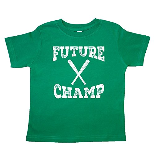 - inktastic - Baseball Bat Future Champ Toddler T-Shirt 2T Kelly Green 30d1f