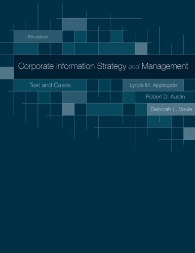 Corporate Information Strategy and Management:  Text and...