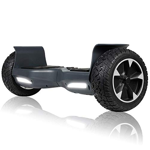 SISIGAD Off Road Hover Board, 8.5 Inch Hoverboard, Two-Wheel Self Balancing Hoverboard Electric Scooter All Terrain Hoverboard for Adult Kids Gift - Grey