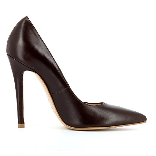 Lisa Mujer Pumps piel lisa marrón oscuro