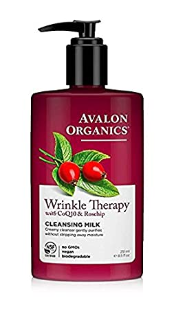 Amazon Com Avalon Organics Wrinkle Therapy Coq Cleansing Milk   Oz Pack Of  Facial Cleansing Products Beauty