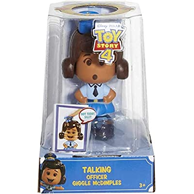 Pixar Toy Story 4 - Talking Officer Giggle McDimples - Re-Create The Movie Magic with This Small but Spirited Law Inforcement Officer!: Toys & Games