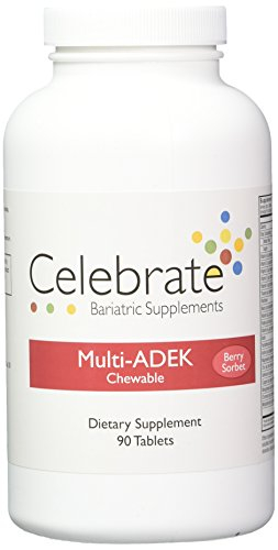 Celebrate Multi-ADEK Chewable Vitamin Berry Sorbet,90 Tablets