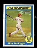 2010 Topps Heritage # 310 World Series - Game #5 - Utley Ties Reggie Chase Utley Philadelphia Phillies (Baseball Card) Dean's Cards 8 - NM/MT Phillies