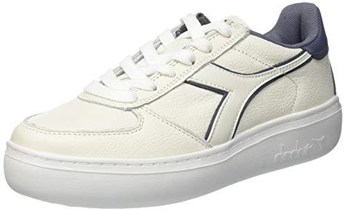 L C7616 WN Diadora Gymnastique de Chaussures Wide Elite B Grisaille Multicolore White Femme q7wx4wEISn