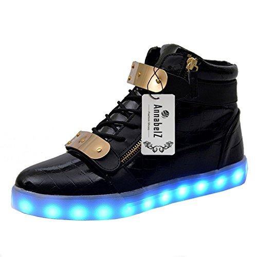 annabelz-led-shoes-high-top-men-women-light-up-shoes-usb-charging-metal-velcro-flashing-sneakers-bla