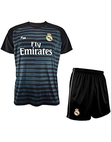 Conjunto de Camiseta y Pantalon de Portero Negro del Real Madrid 2018-2019 - Replica