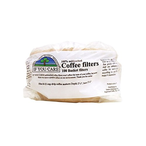 If You Care Coffee Filter Baskets ( 1x100 CT ), Fits 8-12 Cup Drip Coffee (Natural Coffee Filter)