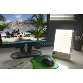 Caribbean Sun 10,000 LUX Sunlight Therapy - LED Light Therapy Desk Lamp with 108 LED Lamps - UV Protected to Combat Winter Blues, Winter Associated Sleep Disorder, Fatigue & Jetlag (B0013LXYQW) | Amazon price tracker / tracking, Amazon price history charts, Amazon price watches, Amazon price drop alerts