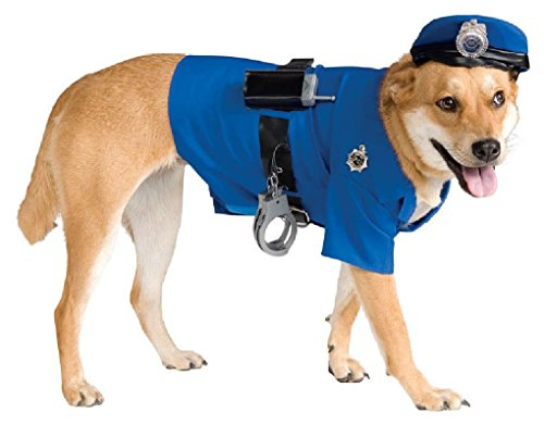 [Ponce Dog Police Officer Costume Puppy Cop Sheriff Pet Small Medium Large XL] (Elvis Costumes For Dogs)