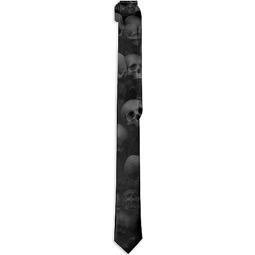 Sherly Yard Corbata de Hombre Corbata clásica Negra con Cabeza de ...